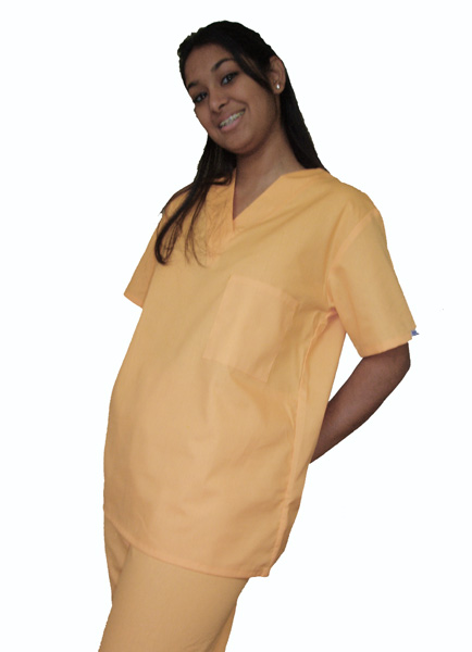 Sunshine Yellow Drawstring Scrub Set, L