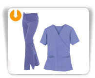 Mock Wrap Scrub Sets